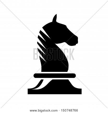 Vector sign horse of chess, isolated in white
