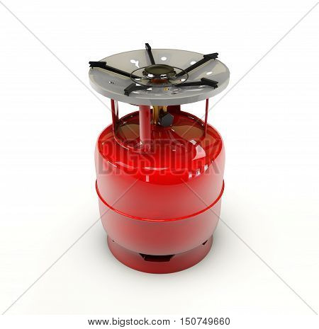 3d Illustration of Propane gas cylinder on a white background
