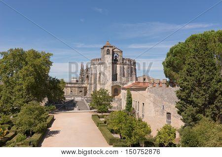 Medieval Templar castle in Tomar, Portugal. Landmark in Europe