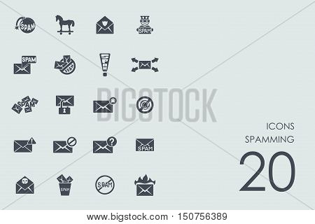 spamming vector set of modern simple icons