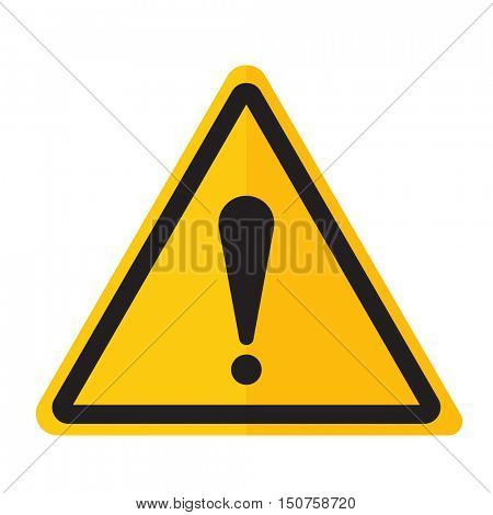 Danger warning exclamation point sign icon