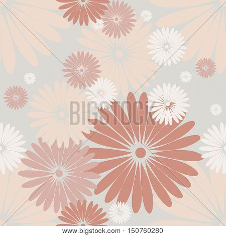 Seamless pattern with cute chamomile flowers. Elegant background can be used for napkin designs, linen, textile  and more creative designs.