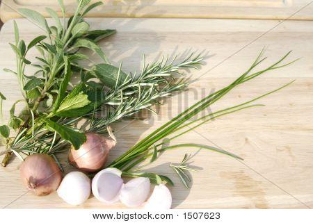 Herbs And Shallots