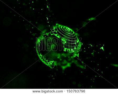 fire green abstact background . Underwater concept background