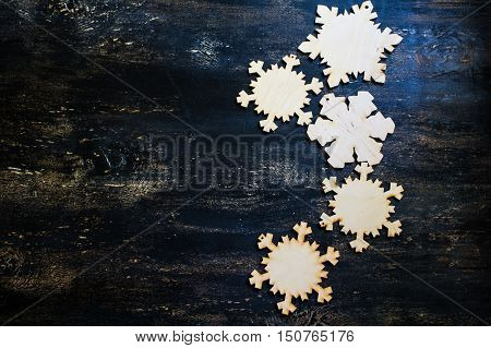 Christmas Wooden Snowflakes