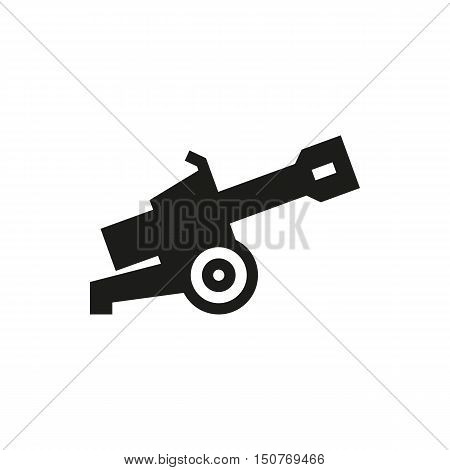 Cannon icon on white background Created For Mobile Web Decor Print Products Applications. Icon isolated. Vector illustration