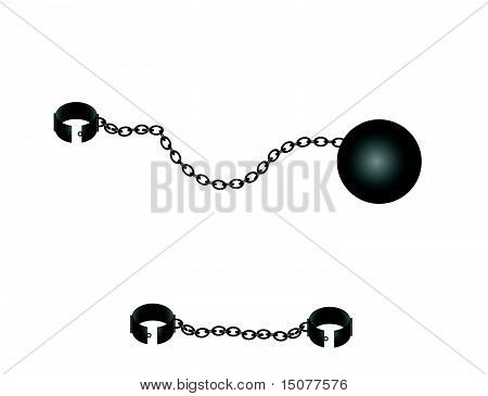 Ball and chains illustration set