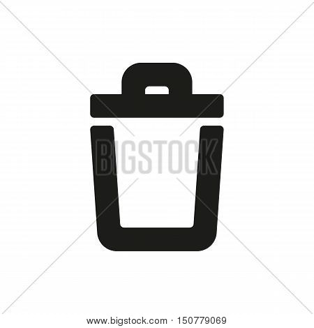 trash bin icon on white background Created For Mobile Web Decor Print Products Applications. Icon isolated. Vector illustration