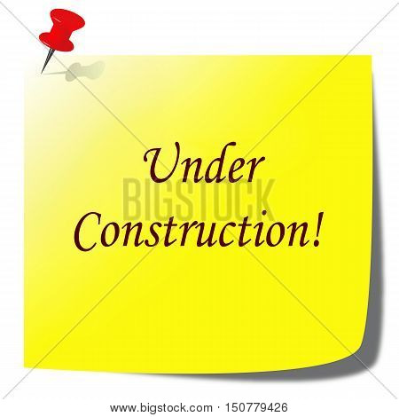 under construction paper note - website development concept
