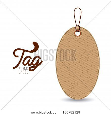 hanging tag of paperboard material icon. Price offer discount and market design. Isolated design. Vector illustration
