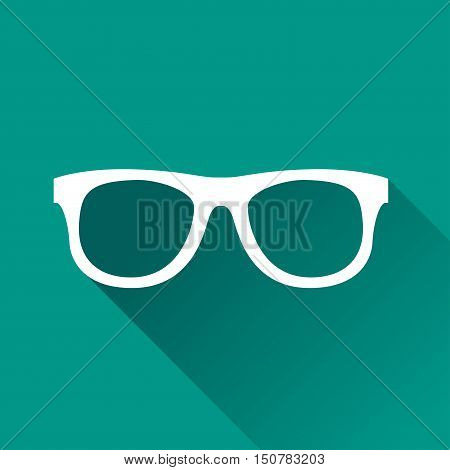Illustration of glasses icon design with shadow