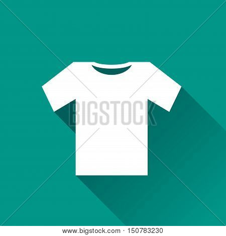 Illustration of tee shirt icon design with shadow