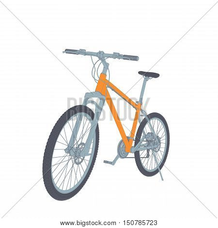 Bicycle Vector Tehnical Illustration Isolated On White