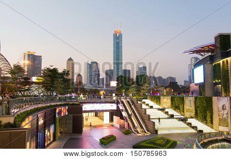 Guangzhou, China - Sep 13, 2016: Guangzhou City Modern Cityscape View, China