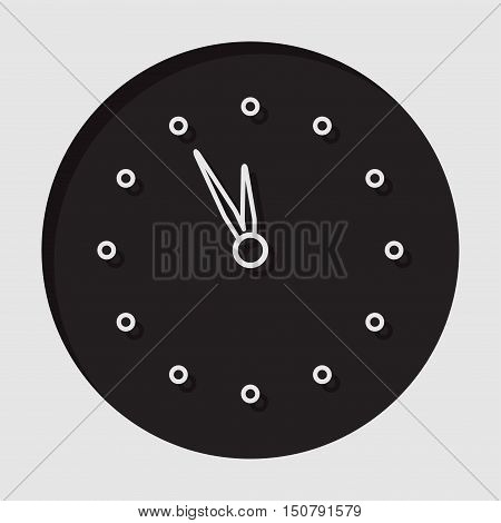 information icon - dark circle with white last minute clock and shadow