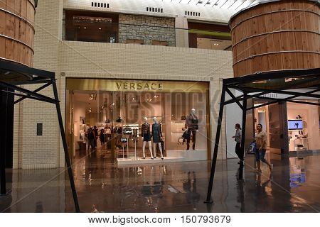 DALLAS, TX - SEP 17: NorthPark Center in Dallas, Texas, as seen on Sep 17, 2016. The center has over 235 stores and is the first shopping center featured on Vogue Magazine.