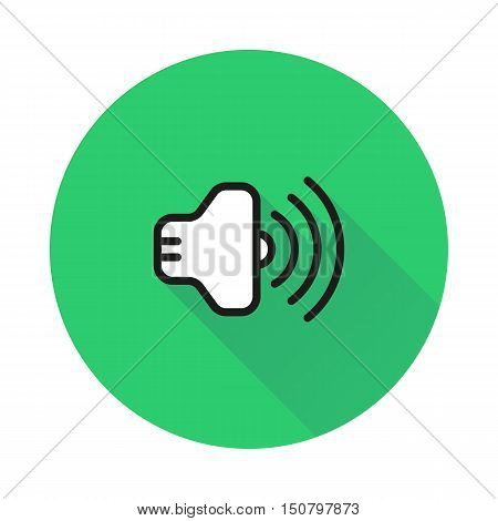 Volume Icon on round background Created For Mobile Web Decor Print Products Applications. Icon isolated. Vector illustration