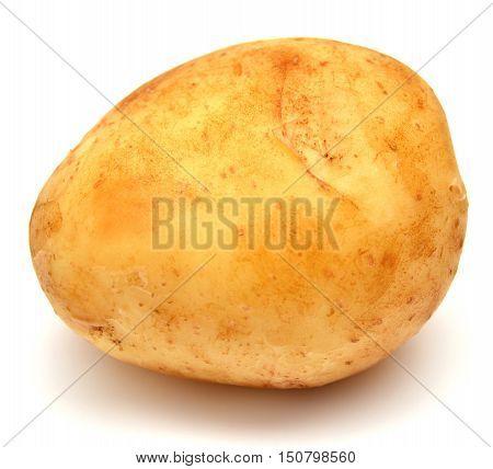 Potato isolated on white background. Food. Yellow.