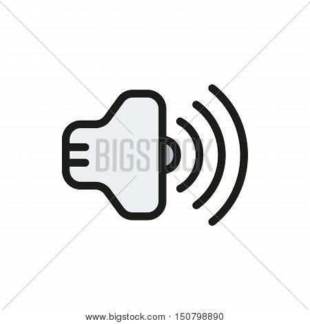Volume Icon on white background Created For Mobile Web Decor Print Products Applications. Icon isolated. Vector illustration