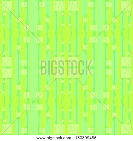 Abstract geometric seamless background. Regular stripes and squares pattern lemon lime green, mint and pastel green.