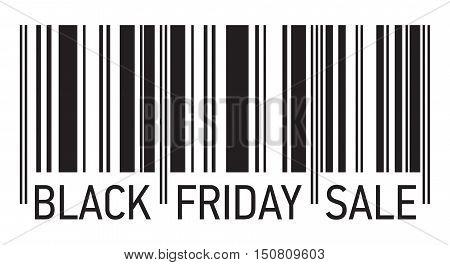 Black Friday Sale, barcode vector design, black lines