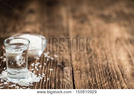 Glass With Sake (selective Focus)