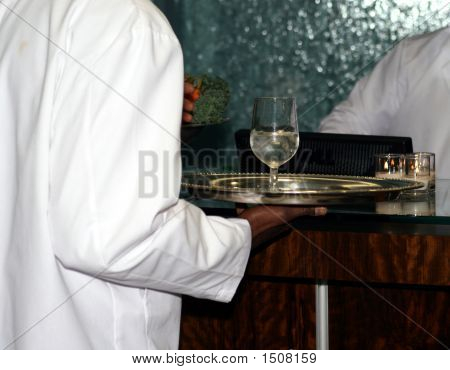 Waiter And A Glass