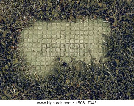Vintage Looking Manhole Detail
