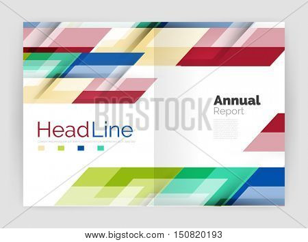 Set of business straight lines abstract backgrounds. Vector illustration