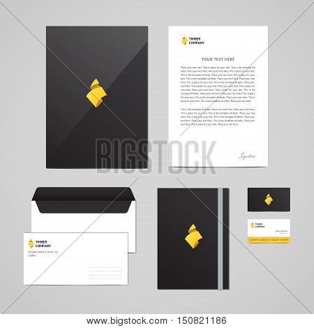 Corporate identity Timber Company design template. Documentation for business. Logo with sawdust. Perfect for your business.