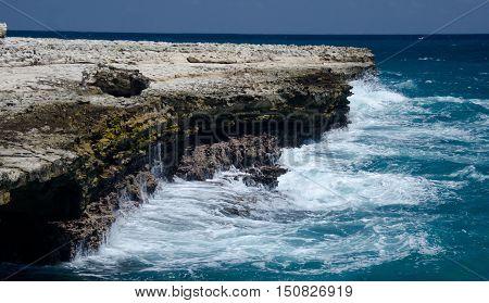 Rock Formations And Aquamarine Waters  Near Devils Bridge - 3