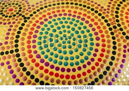 Australian Aboriginal dot art abstract background texture