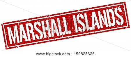 Marshall Islands. stamp. square grunge vintage isolated sign