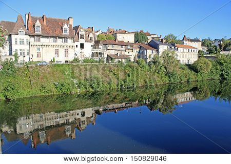 Town of Perigueux by the River Isle, France