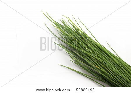 Fresh Spring Onions isolated on white background