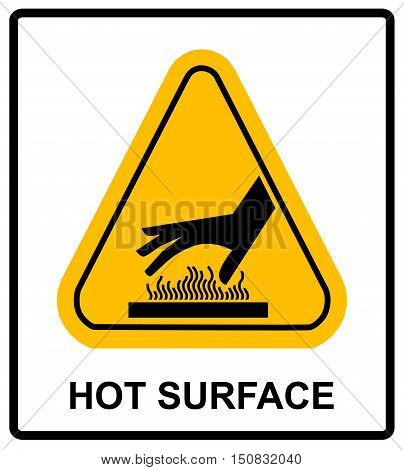 do not touch hot surface danger signs illustration vector informational sticker label vector for public places