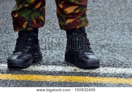 NZ Army combat uniform on a soldier.