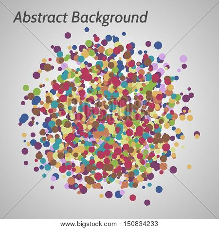 Vector abstract color background with irregular circles