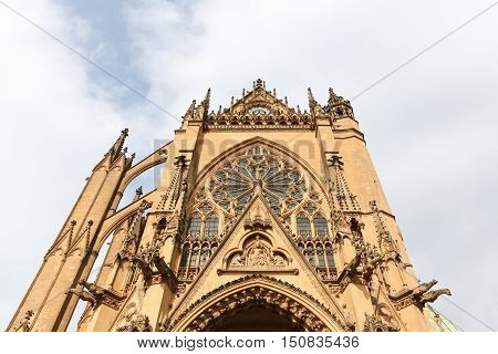 The gothic cathedral of Metz in France