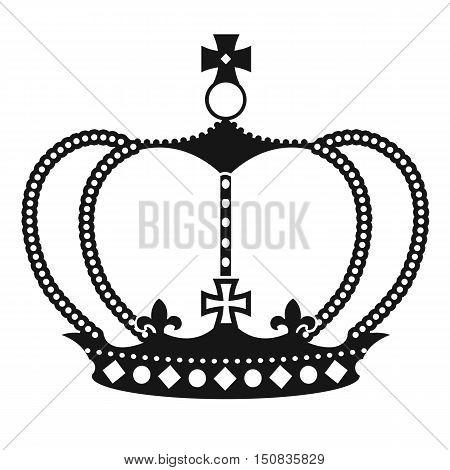 Black Crown On White Background