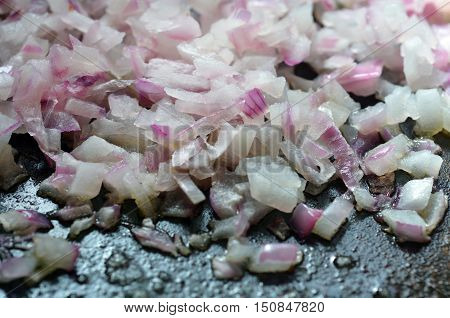 Frying Red Onion