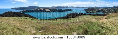 Aerial Landscape View Of Mangonui New Zealand