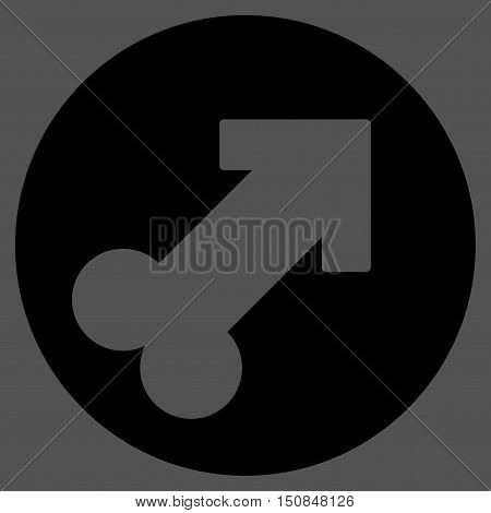 Erection vector icon. Style is flat symbol black color rounded angles gray background.