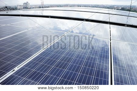 Rooftop Solar PV on curve roof Cloud Reflect