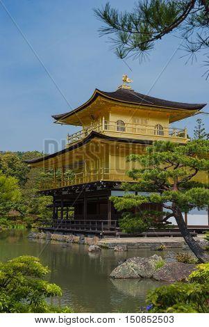 Kinkaku-ji, Golden Temple, Kyoto, Japan and Japanese garden