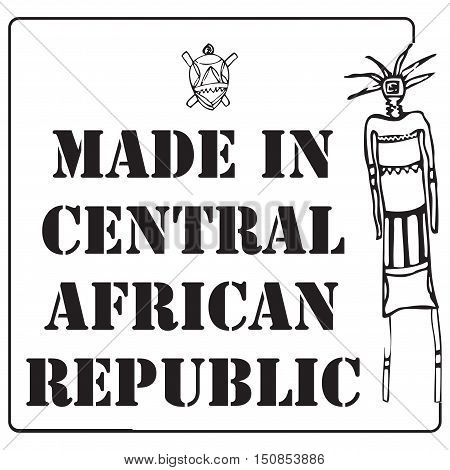 Square the stamp imprint for products made in the Central African Republic.