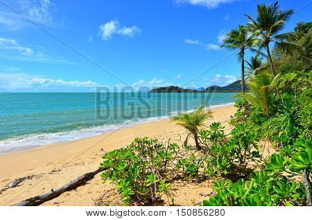 Landscape Of Clifton Beach Near Cairns Queensland Australia
