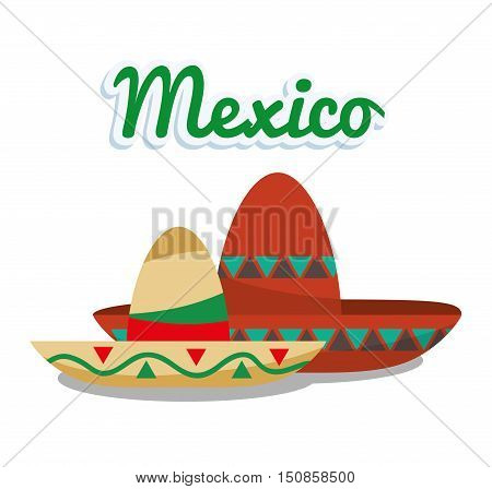 Hat icon. Mexico mexican culture landmark and latin theme. Colorful design. Vector illustration