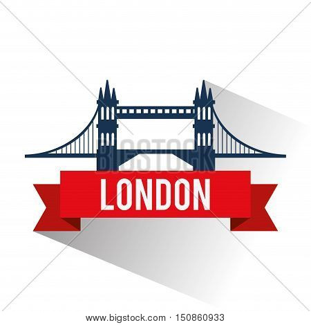 Bridge icon. London england landmark and tourism theme. Colorful design. Vector illustration