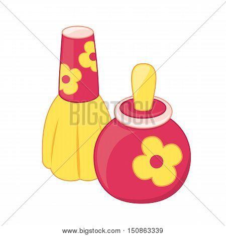 Cartoon perfume bottles babt toy. Isolated. Vector illustration